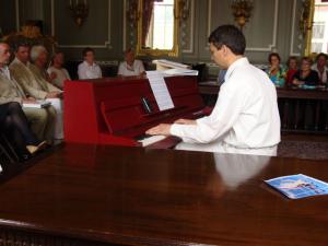 Intermezzo met pianomuziek