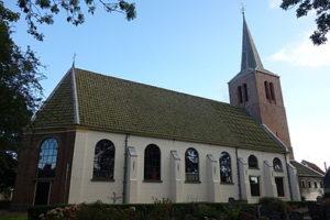 Het kerkje waar het koor repeteert