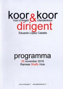 Het mooi ontworpen programmaboekje door het IJlandenkoor